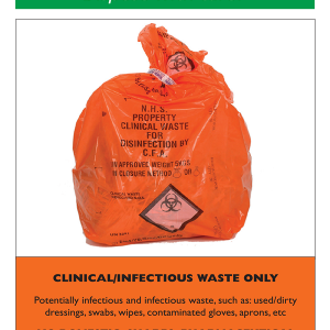 Waste Aware - Clinical/Infectious Waste Label
