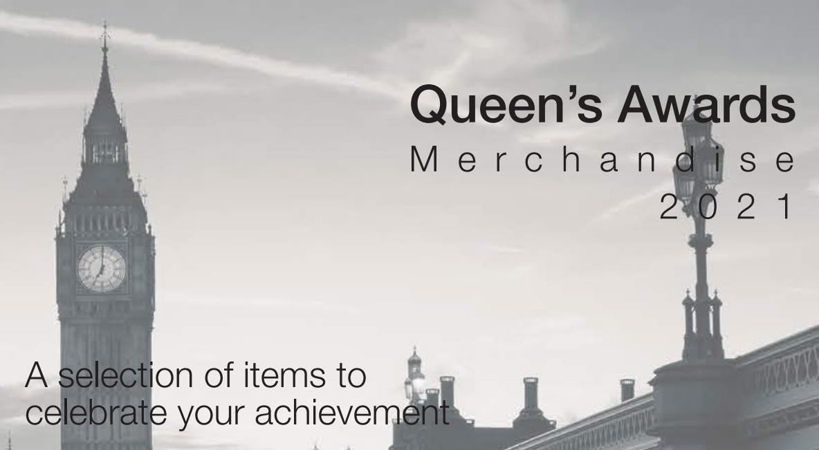 2021 Queen's Awards Merchandise brochure